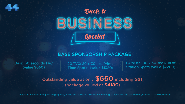 Back to Business Special with Channel 44 Television Sponsorship